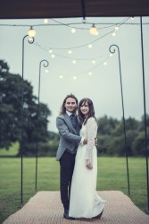 Victoria & Adams sharing relaxed tipi wedding