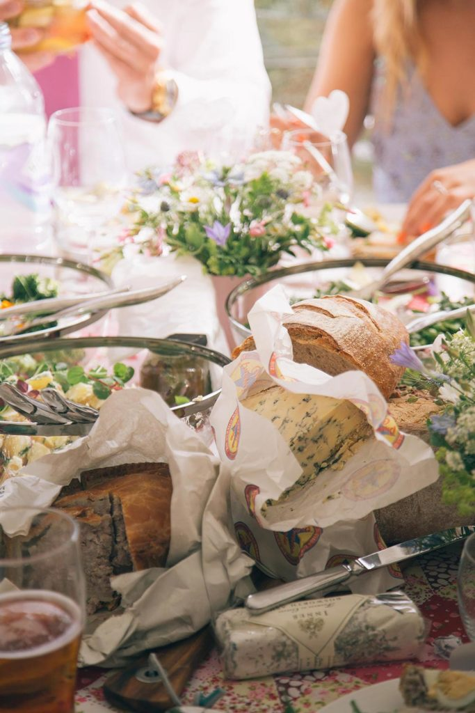 Pork pie & cheese picnic wedding catering