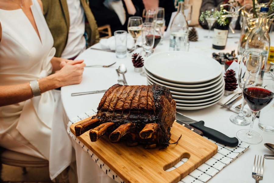 Roast four Bone rib of Beef