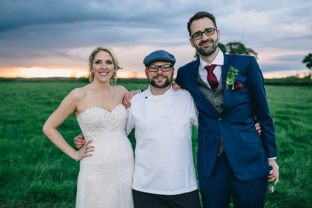 Thomas the caterer with Cian and clare