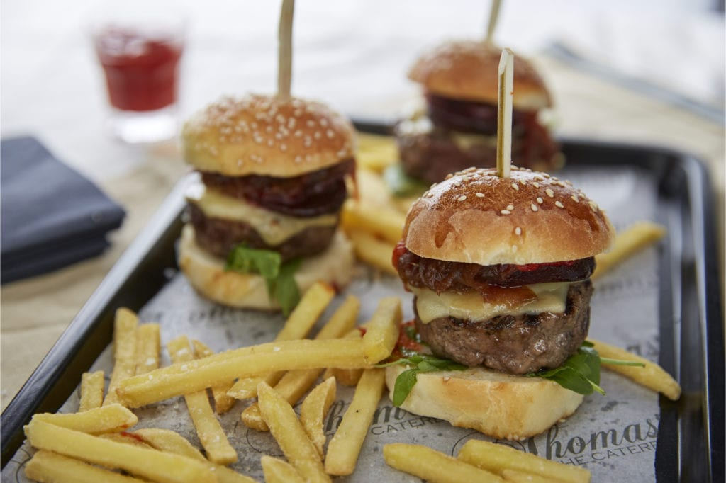 Kids burger and chips