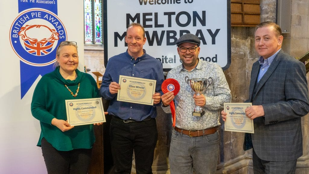 Winner best vegetarian pie in the UK